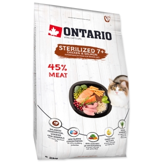 Ontario Cat Sterilized 7+ 6,5kg