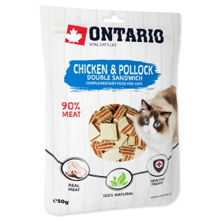 ONTARIO Chicken and Pollock Double Sandwich 50g