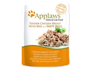 Kapsička APPLAWS Cat Pouch Chicken with Beef in Jelly 70g
