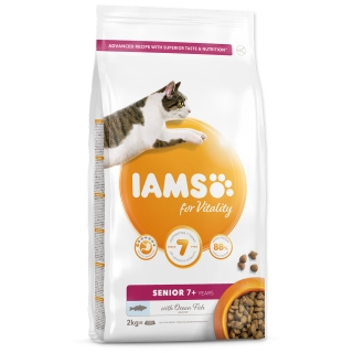 IAMS for Vitality Senior Cat Food with Ocean Fish 2kg