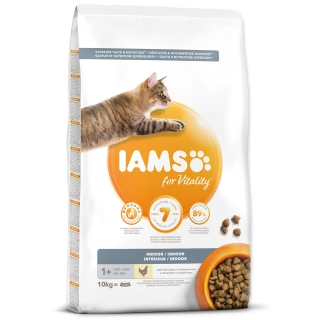 IAMS for Vitality Indoor Cat Food with Fresh Chicken 10kg
