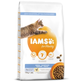 IAMS for Vitality Dental Cat Food with Fresh Chicken 10kg