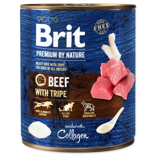 BRIT Premium by Nature Beef with Tripes 800g