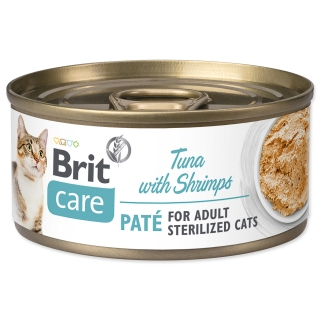 Konzerva BRIT Care Cat Sterilized Tuna Paté with Shrimps 70g